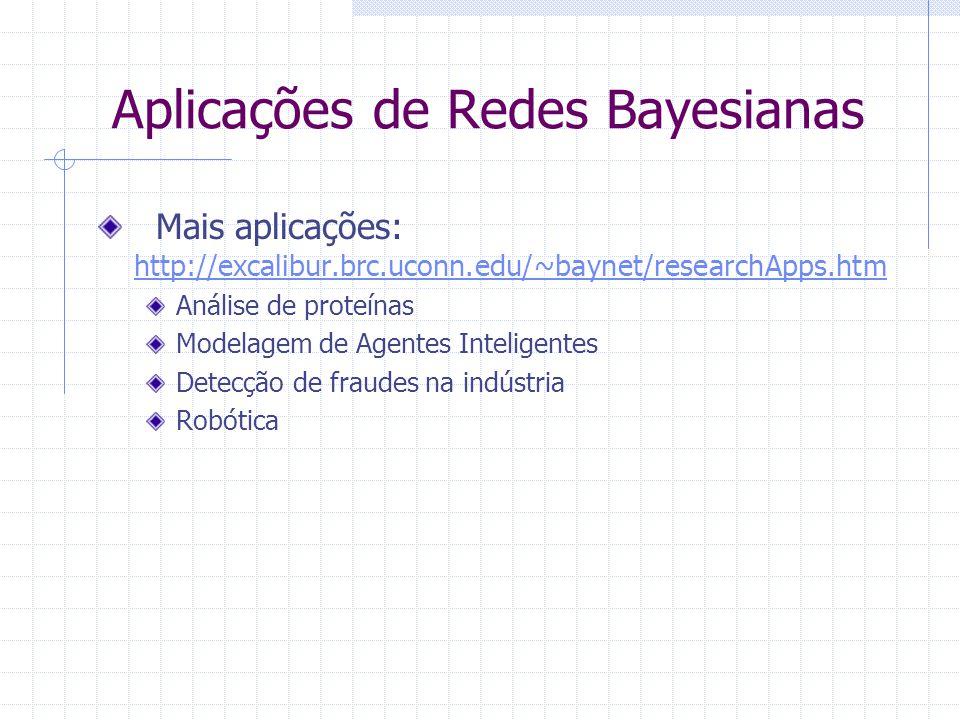 Aplicações de Redes Bayesianas