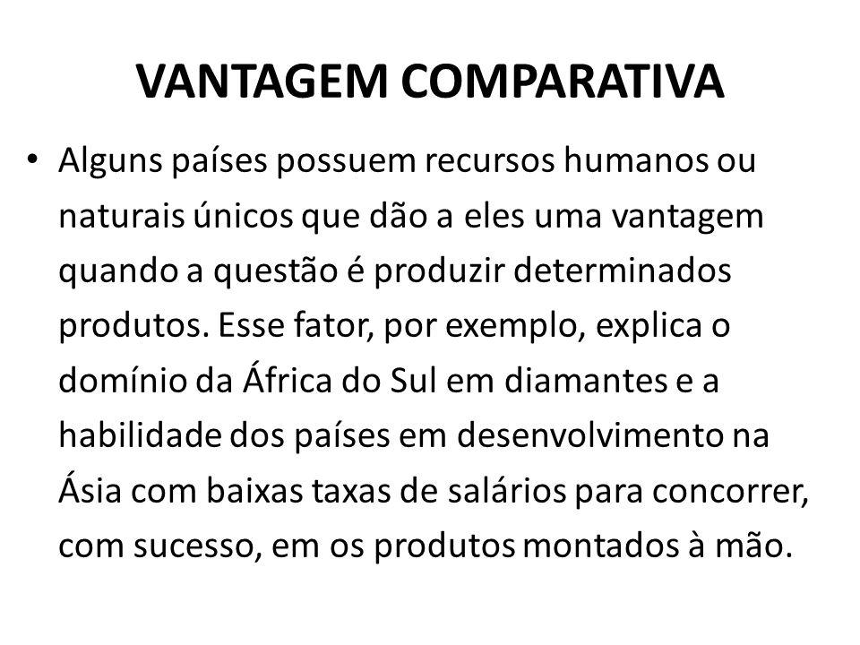 VANTAGEM COMPARATIVA
