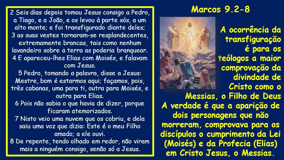 Marcos 9.2-8 A ocorrência da transfiguração é para os teólogos a maior