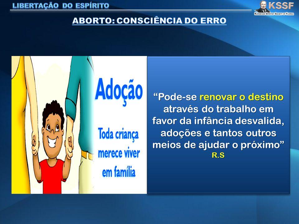 ABORTO: CONSCIÊNCIA DO ERRO