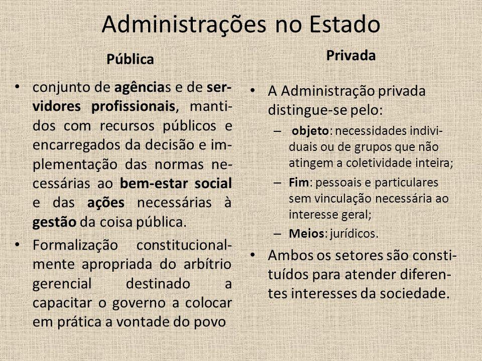 Administrações no Estado
