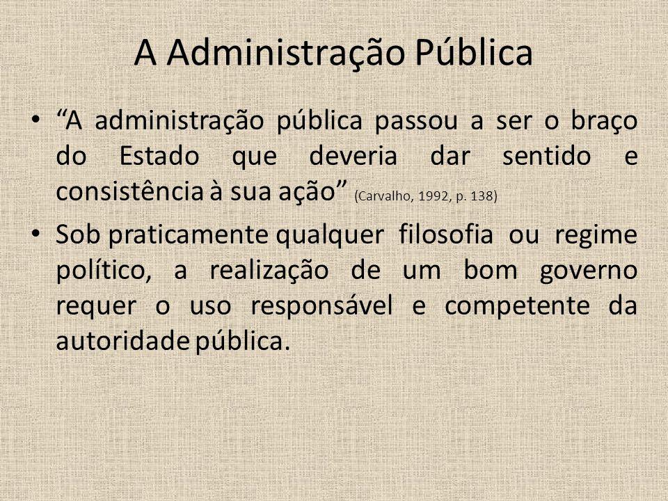 A Administração Pública