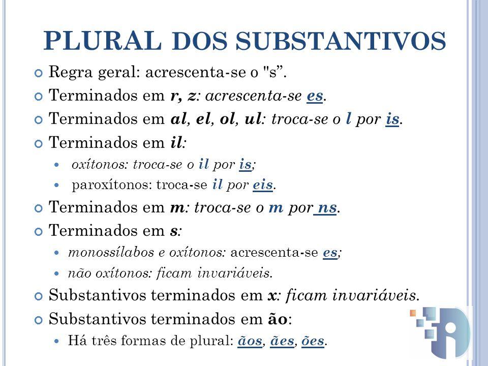 plural DOS SUBSTANTIVOS