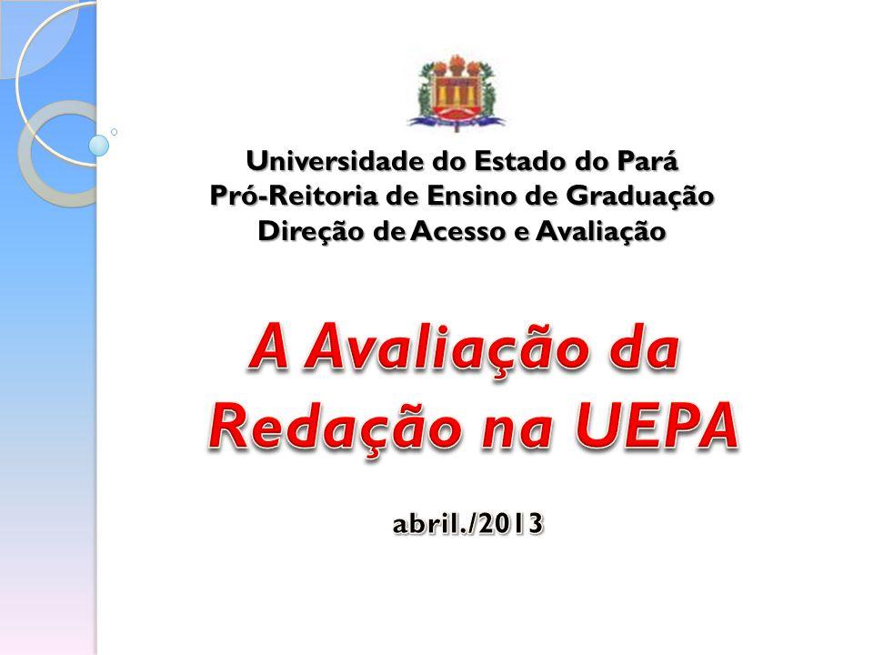 A Avaliação da Redação na UEPA