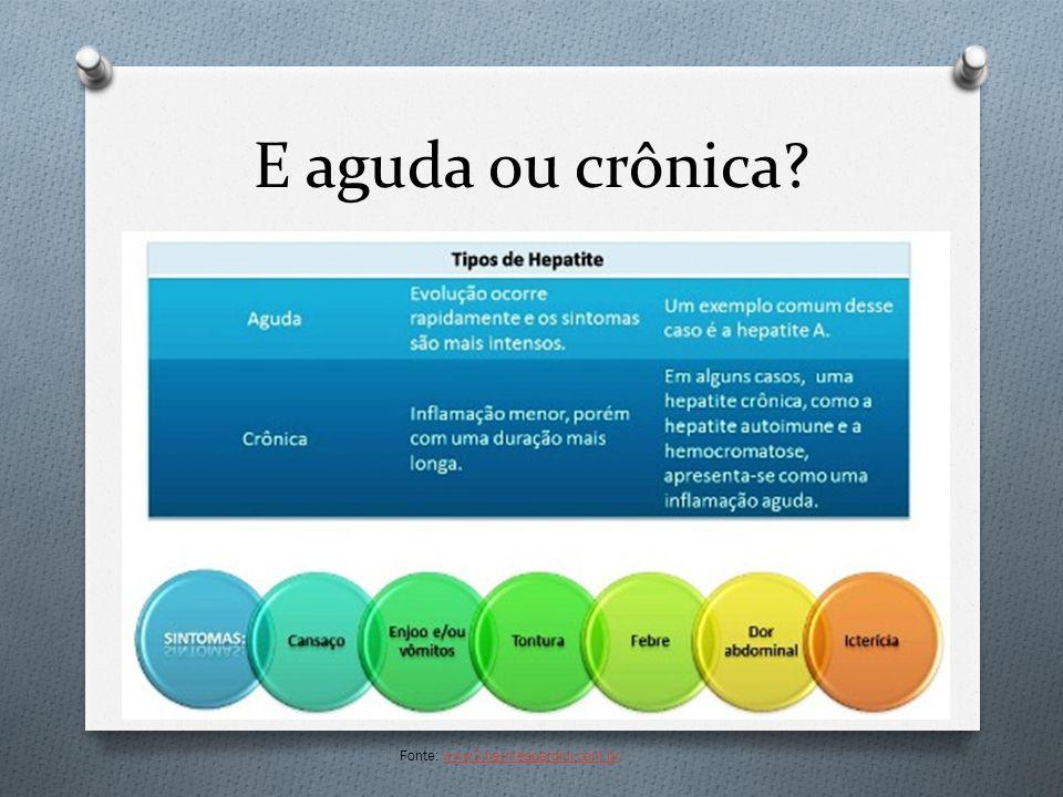 E aguda ou crônica Fonte: www3.hermespardini.com.br