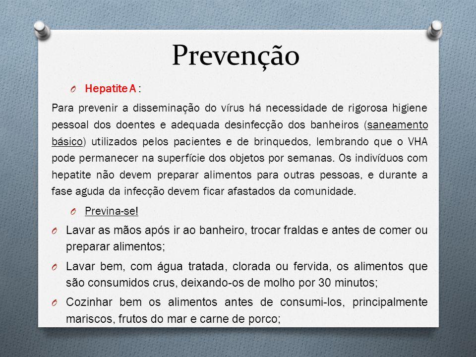 Prevenção Hepatite A :