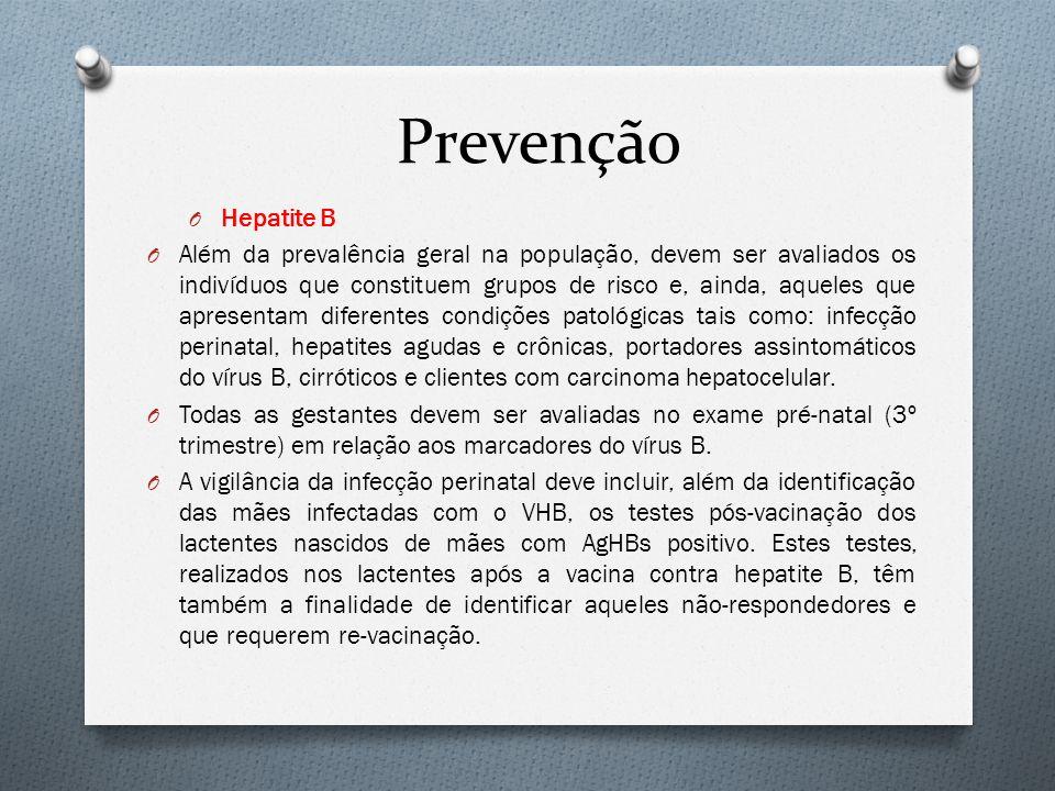 Prevenção Hepatite B.