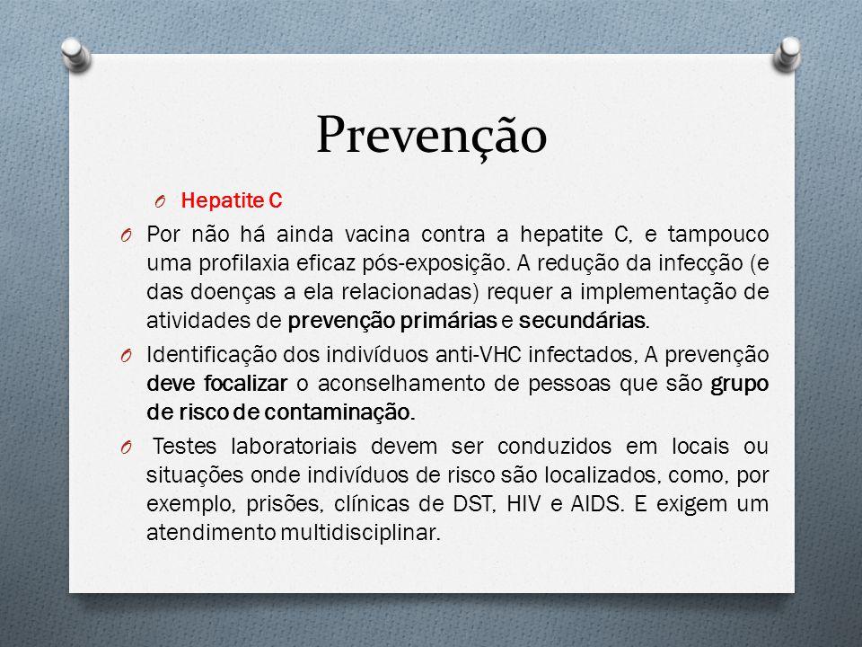 Prevenção Hepatite C.