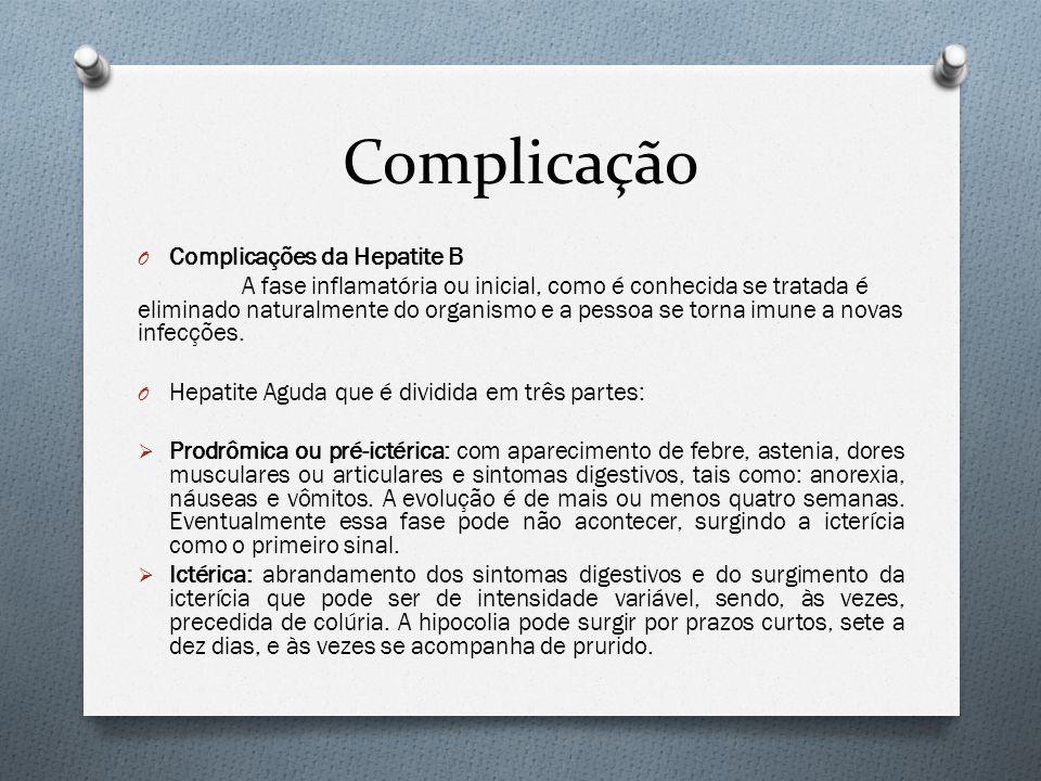 Complicação Complicações da Hepatite B