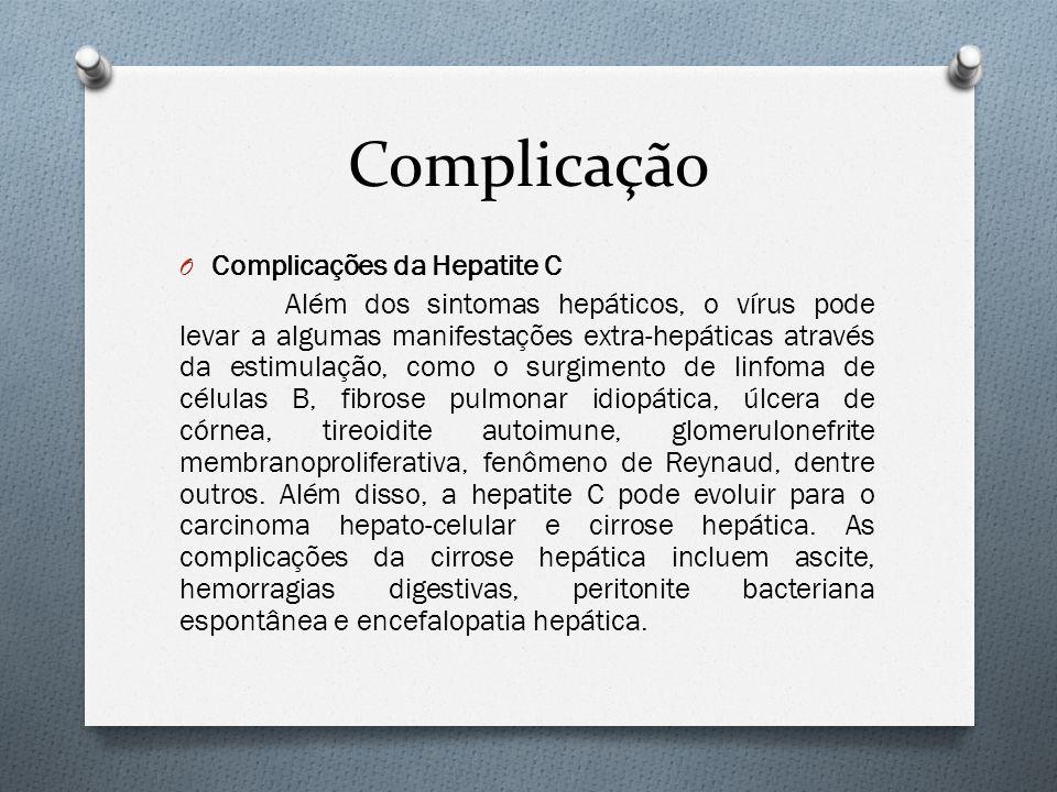 Complicação Complicações da Hepatite C