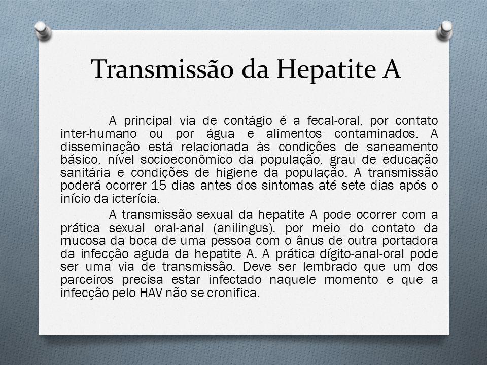 Transmissão da Hepatite A