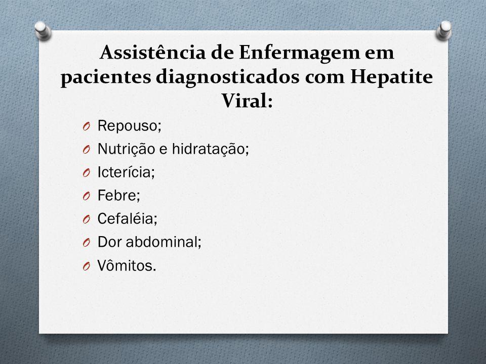 Assistência de Enfermagem em pacientes diagnosticados com Hepatite Viral:
