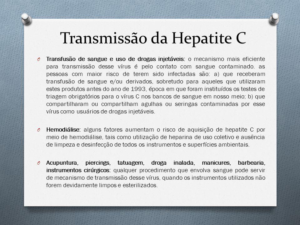 Transmissão da Hepatite C