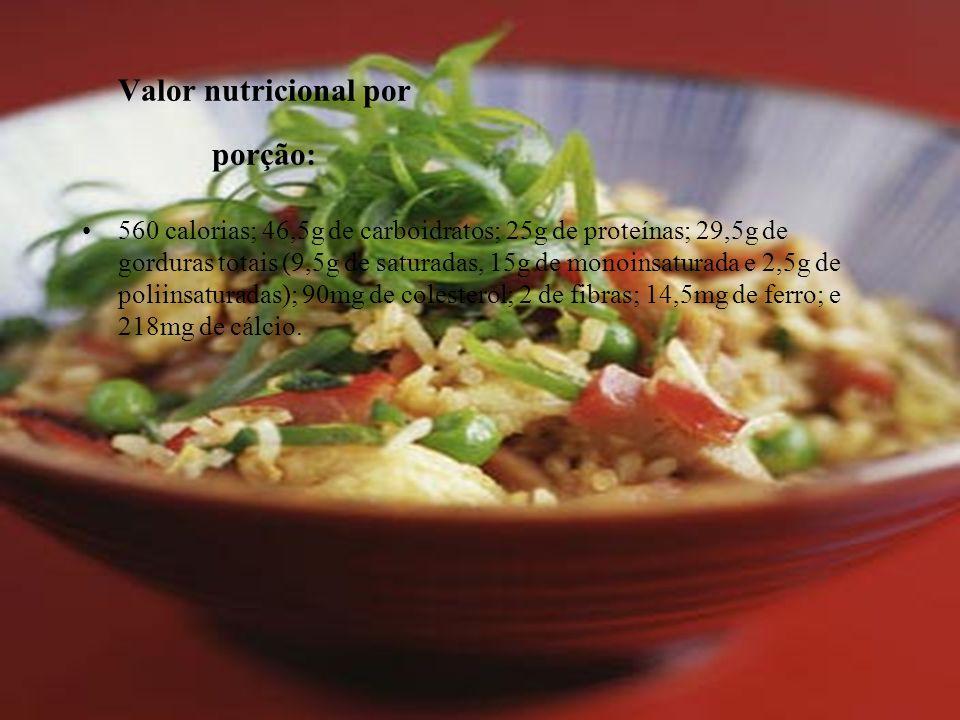 Valor nutricional por porção: