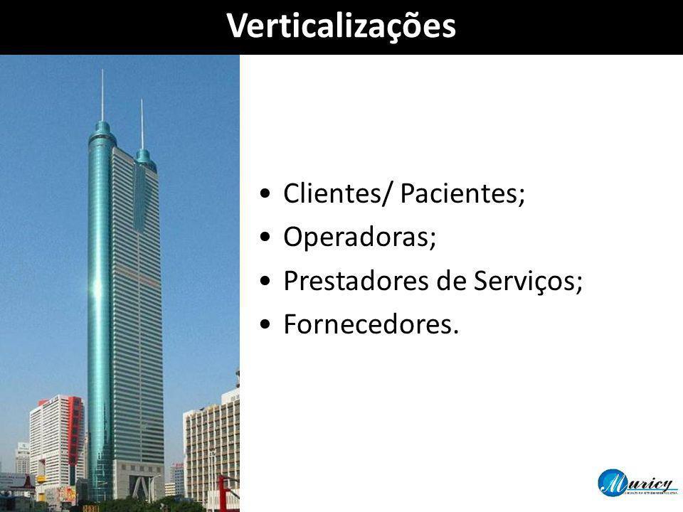 Verticalizações Clientes/ Pacientes; Operadoras;