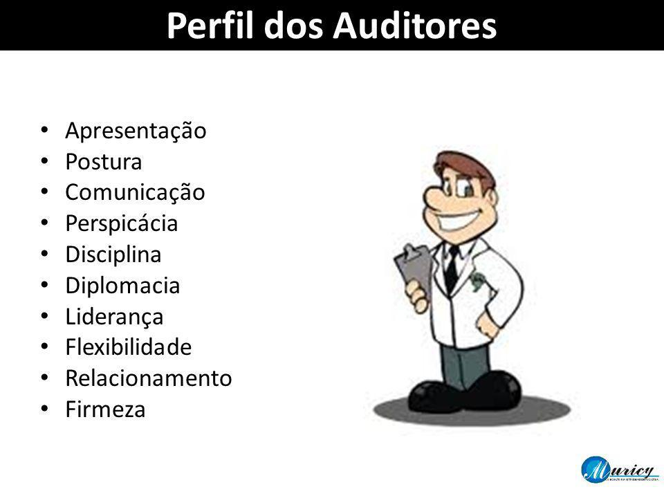 Perfil dos Auditores Apresentação Postura Comunicação Perspicácia