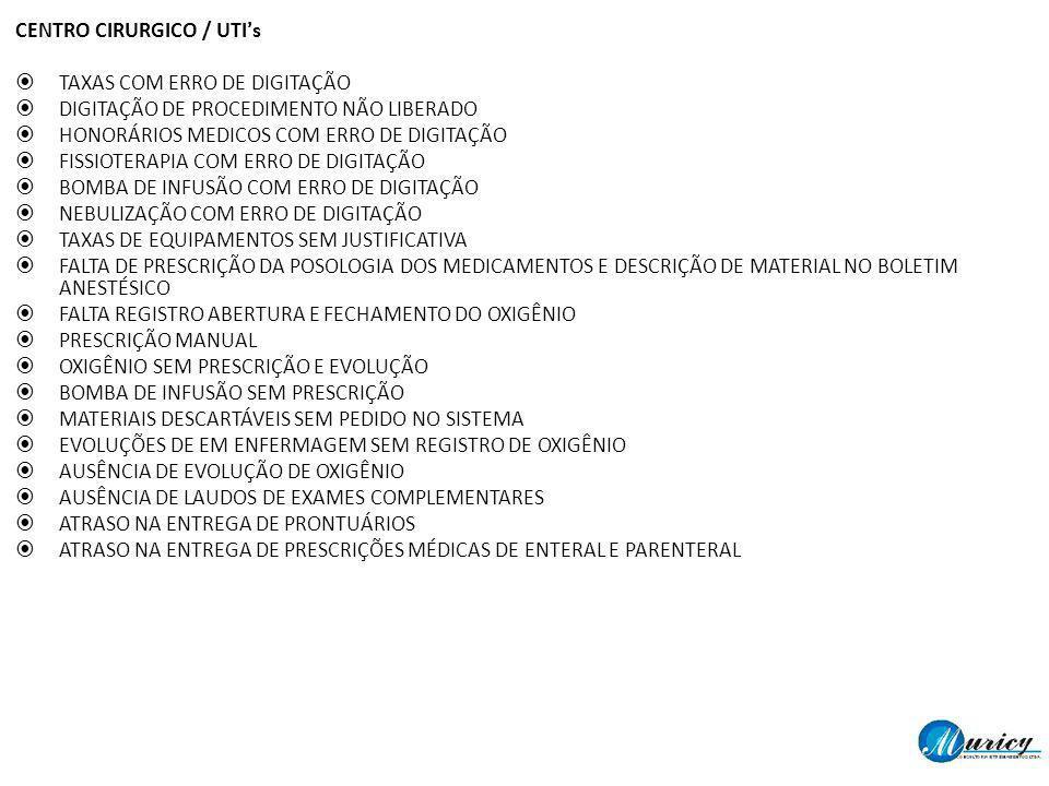 CENTRO CIRURGICO / UTI's