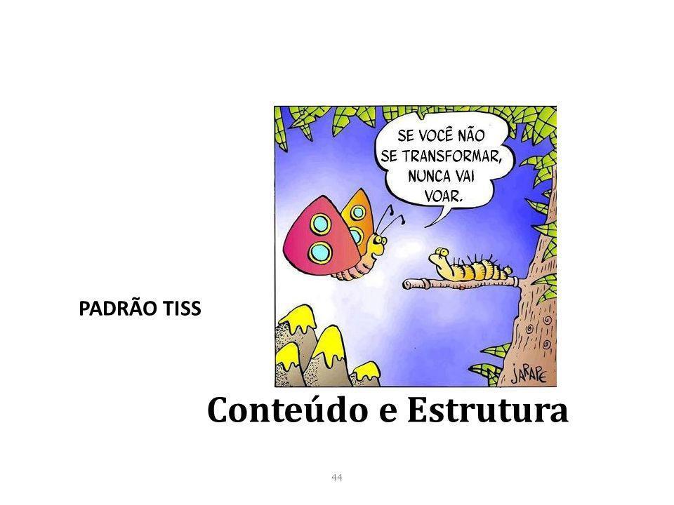 PADRÃO TISS Conteúdo e Estrutura 44