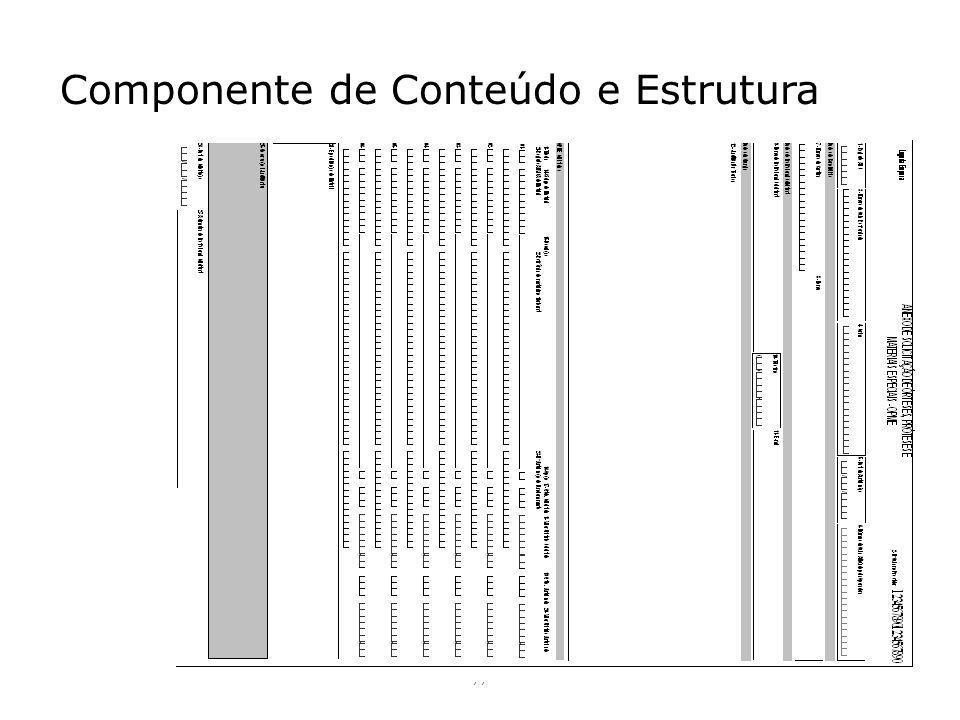 Componente de Conteúdo e Estrutura