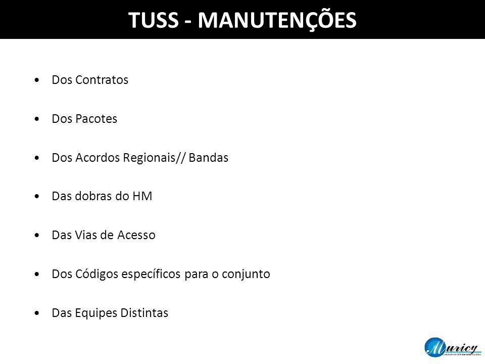 TUSS - MANUTENÇÕES Dos Contratos Dos Pacotes