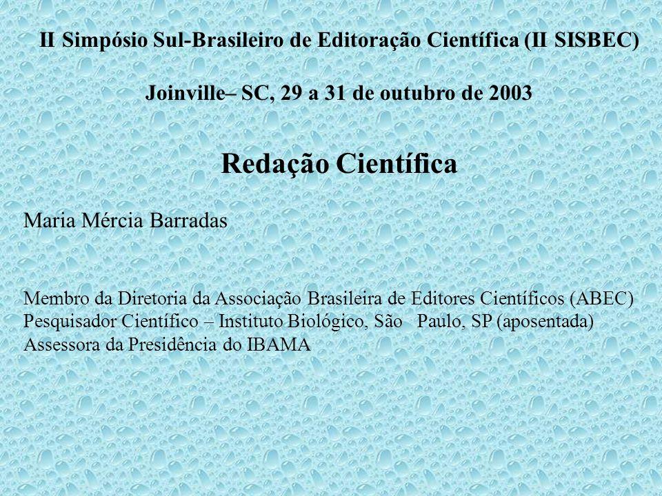 II Simpósio Sul-Brasileiro de Editoração Científica (II SISBEC)