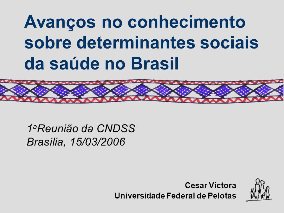 Avanços no conhecimento sobre determinantes sociais da saúde no Brasil