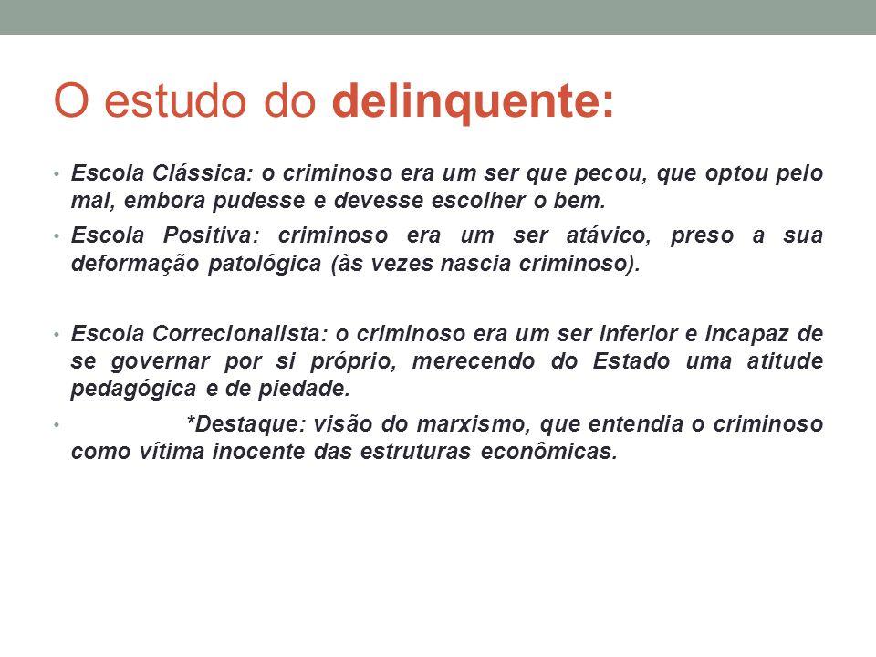O estudo do delinquente: