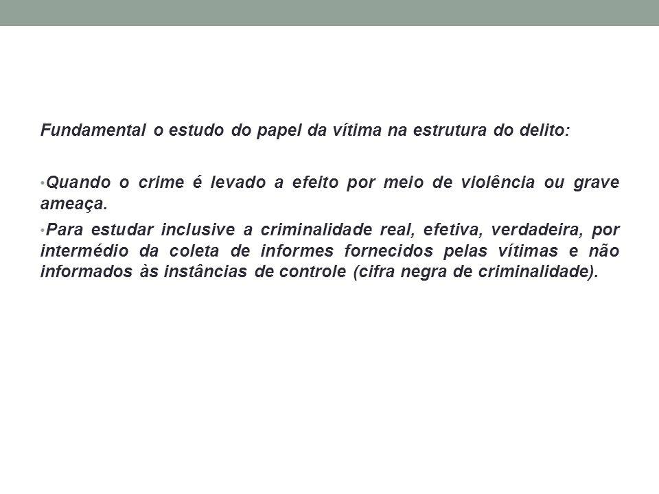 Fundamental o estudo do papel da vítima na estrutura do delito: