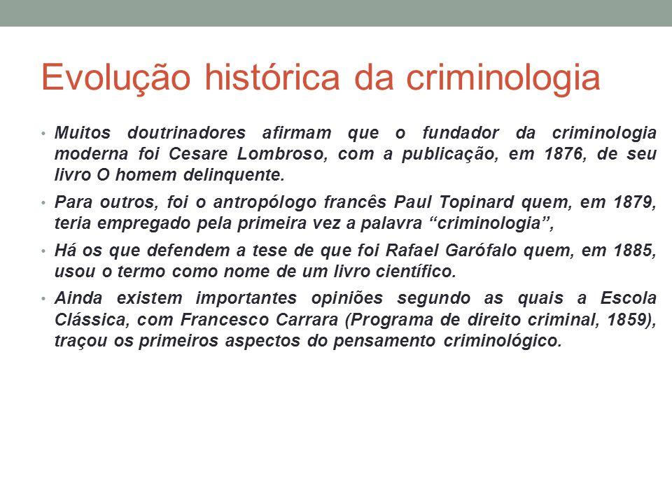 Evolução histórica da criminologia