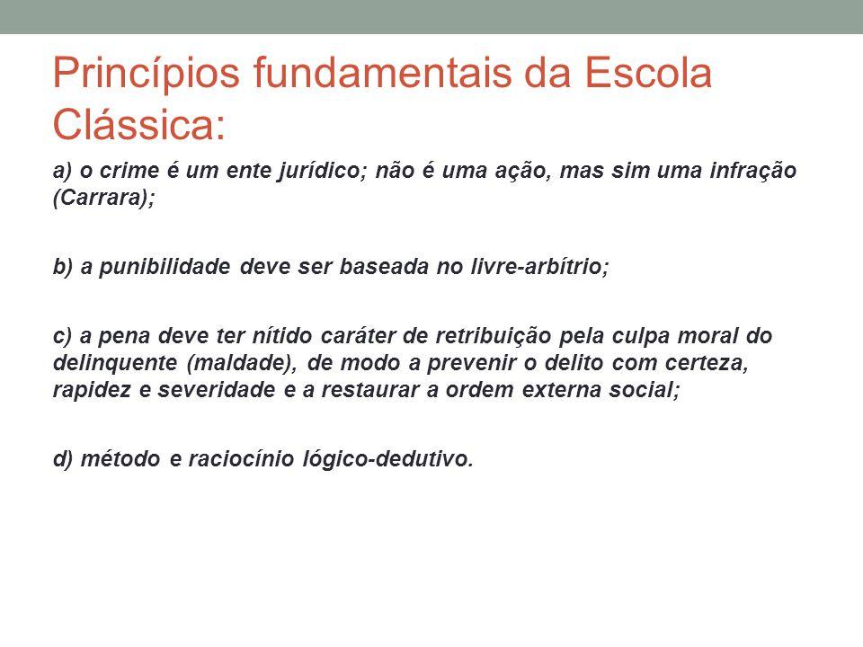 Princípios fundamentais da Escola Clássica: