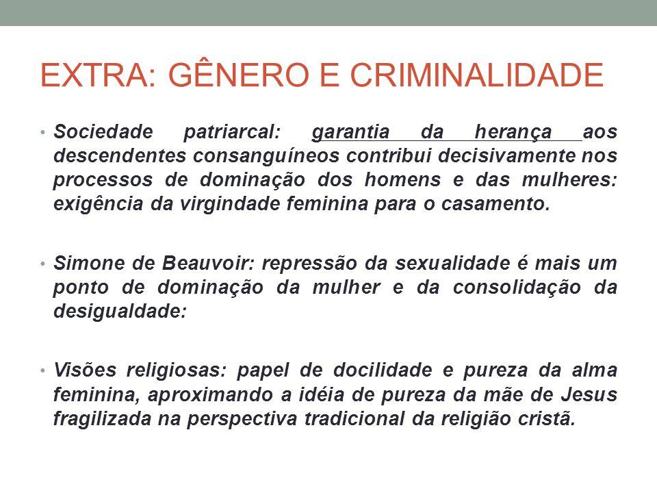 EXTRA: GÊNERO E CRIMINALIDADE