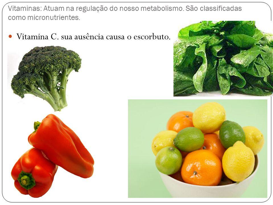 Vitamina C. sua ausência causa o escorbuto.