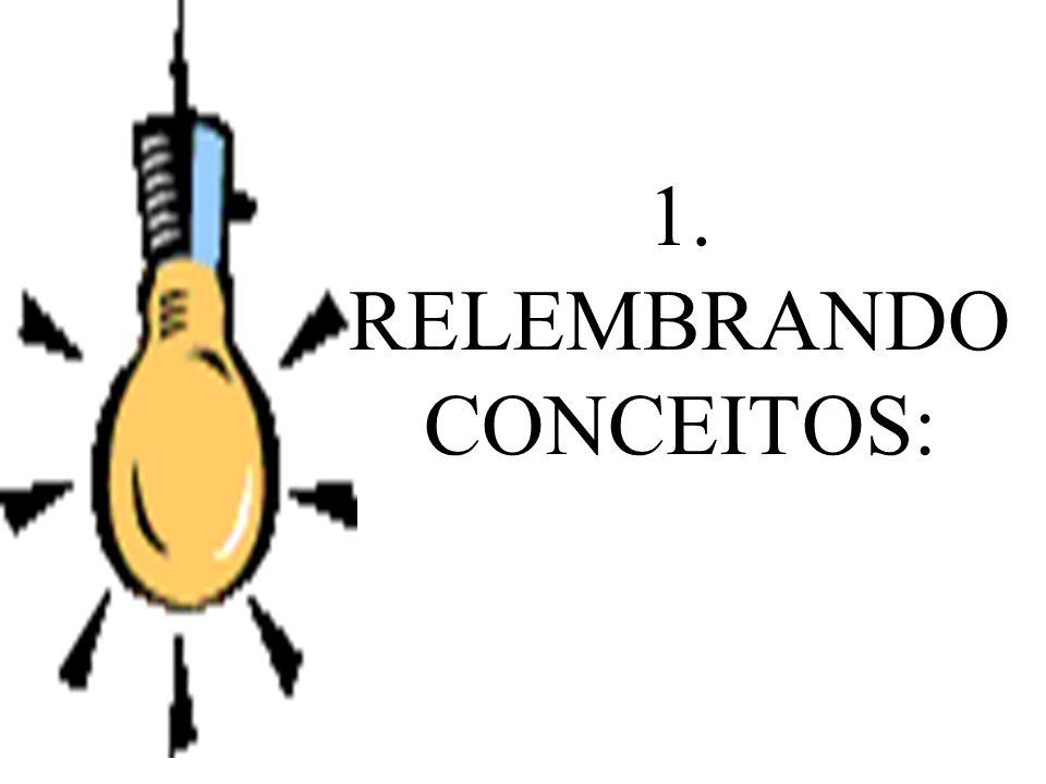 1. RELEMBRANDO CONCEITOS: