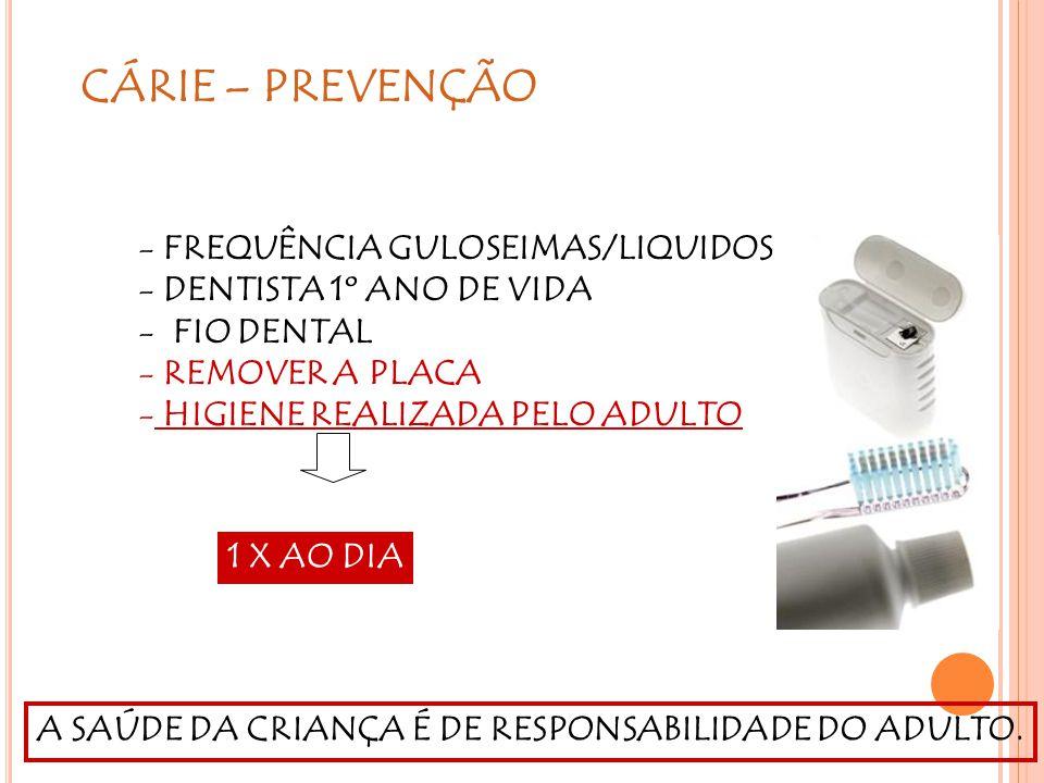 CÁRIE – PREVENÇÃO FREQUÊNCIA GULOSEIMAS/LIQUIDOS