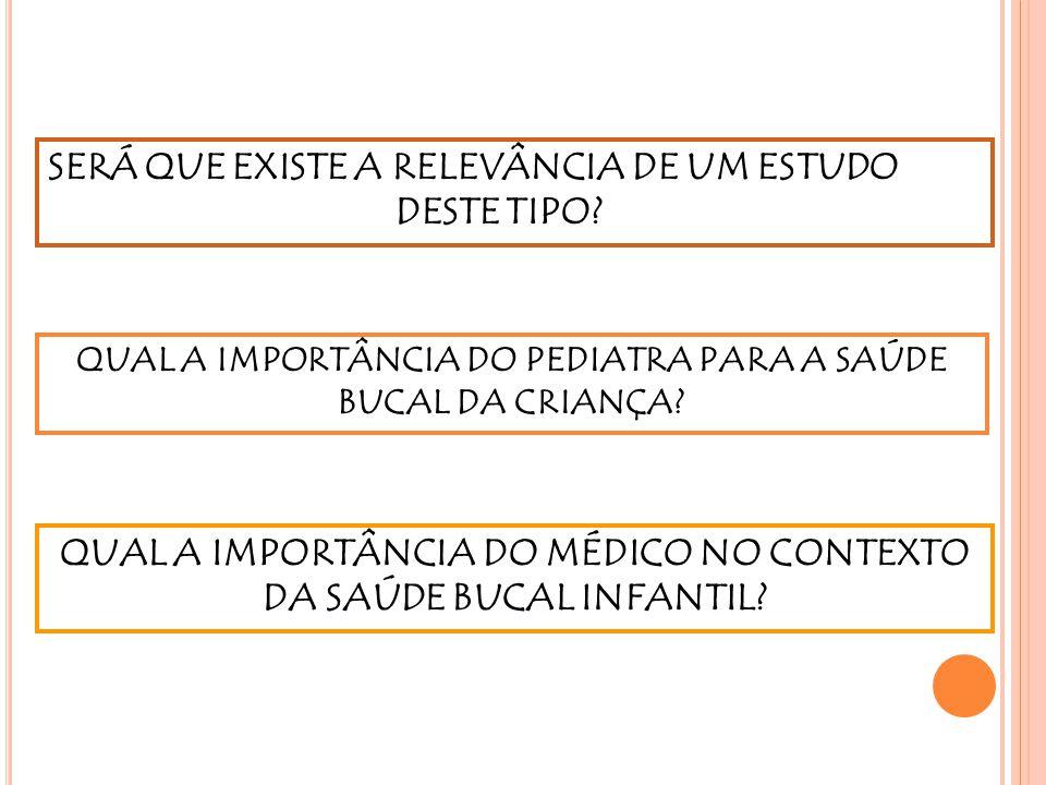 QUAL A IMPORTÂNCIA DO MÉDICO NO CONTEXTO DA SAÚDE BUCAL INFANTIL