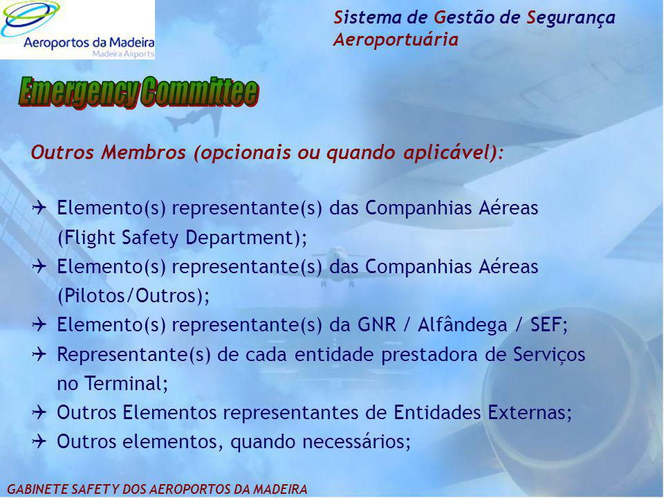 Emergency Committee Outros Membros (opcionais ou quando aplicável):