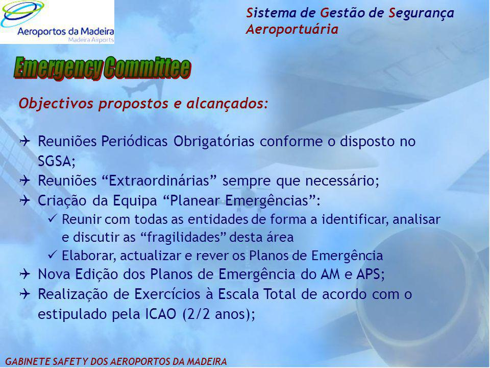Emergency Committee Objectivos propostos e alcançados: