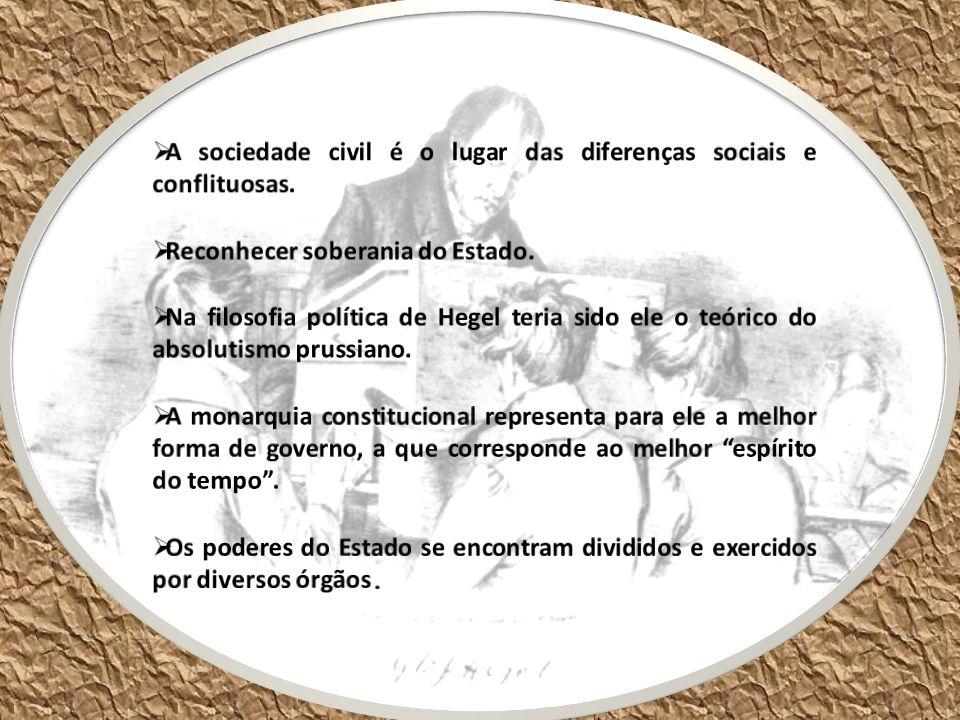 A sociedade civil é o lugar das diferenças sociais e conflituosas.