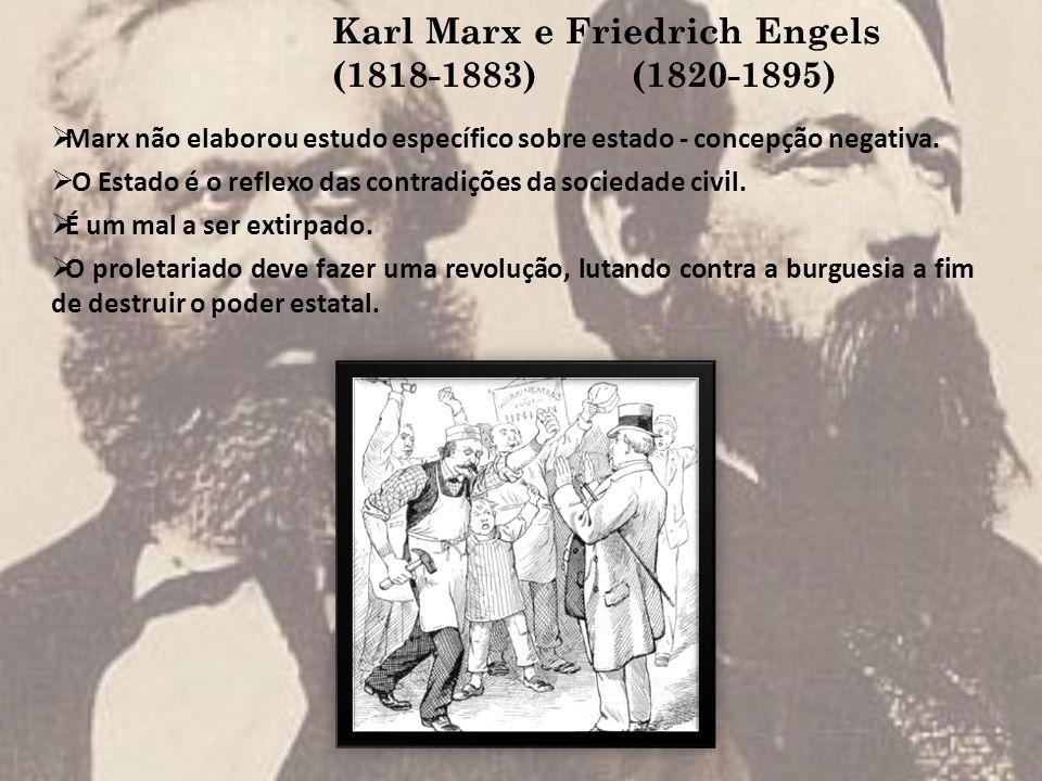 Karl Marx e Friedrich Engels (1818-1883) (1820-1895)