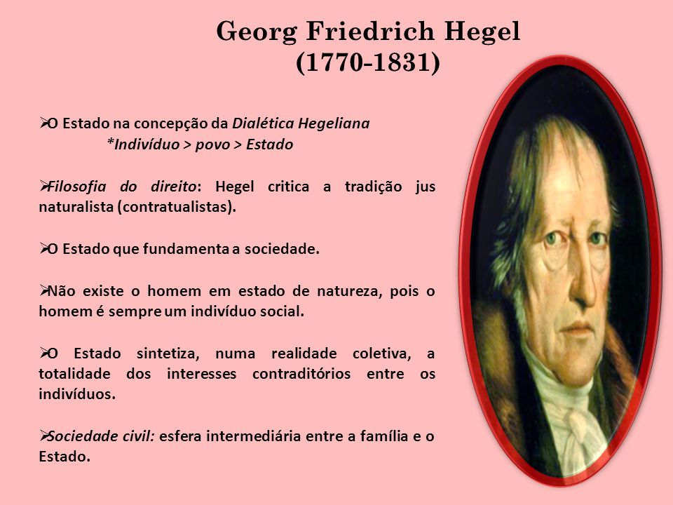 Georg Friedrich Hegel (1770-1831)