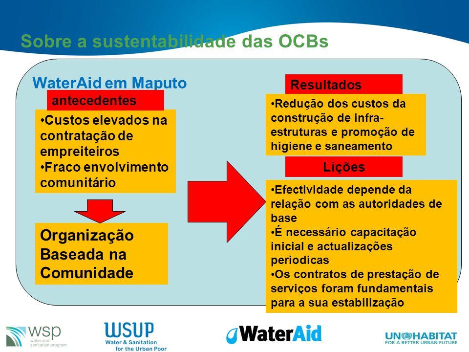 Sobre a sustentabilidade das OCBs