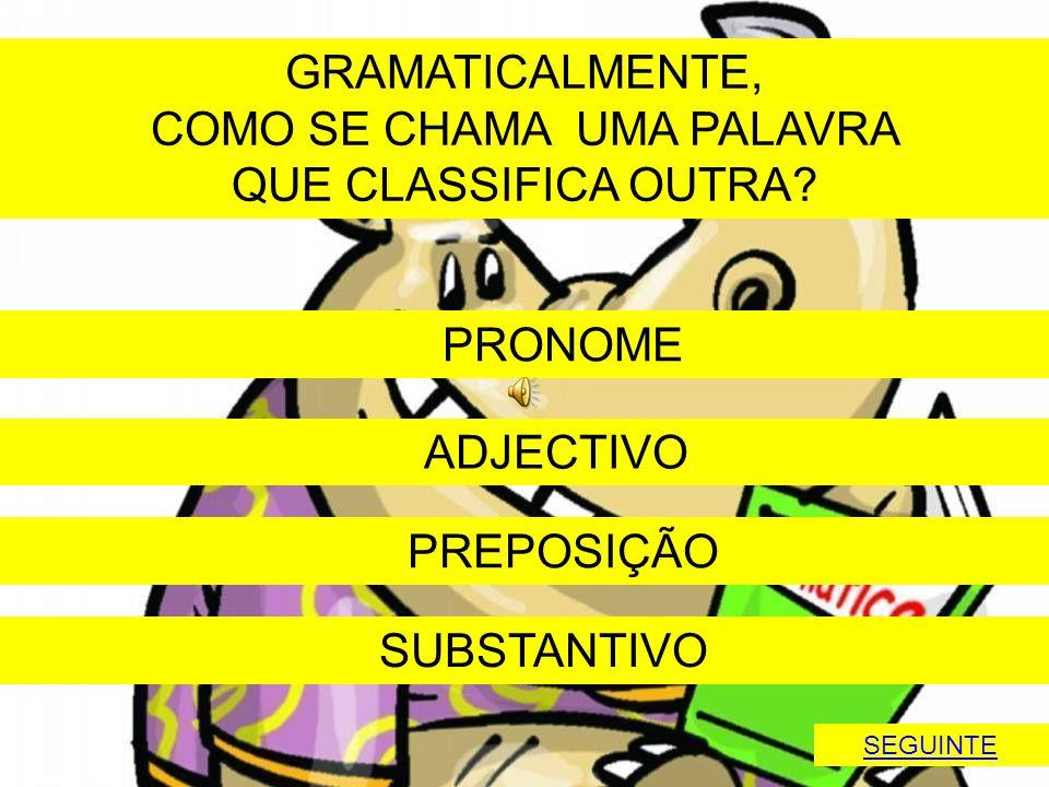 COMO SE CHAMA UMA PALAVRA