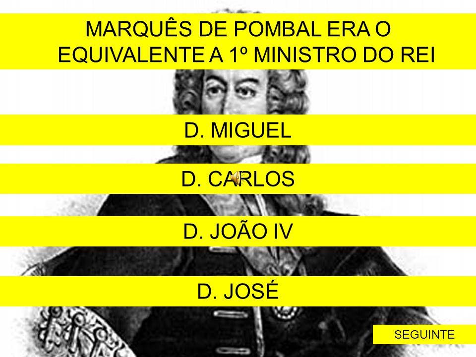 EQUIVALENTE A 1º MINISTRO DO REI