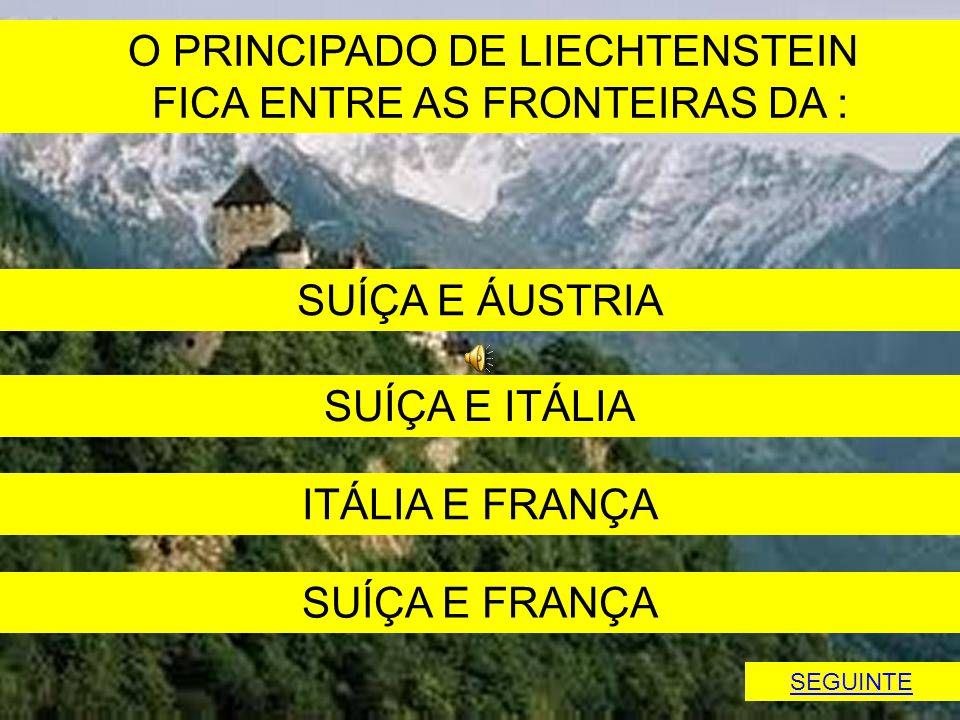 O PRINCIPADO DE LIECHTENSTEIN FICA ENTRE AS FRONTEIRAS DA :