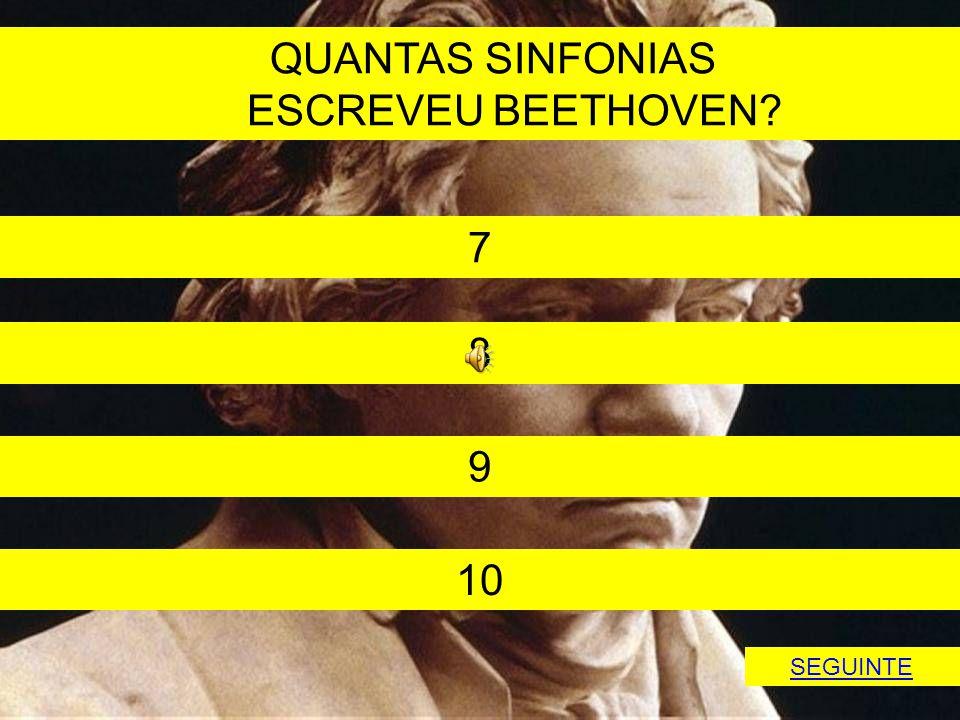 QUANTAS SINFONIAS ESCREVEU BEETHOVEN 7 8 9 10 SEGUINTE
