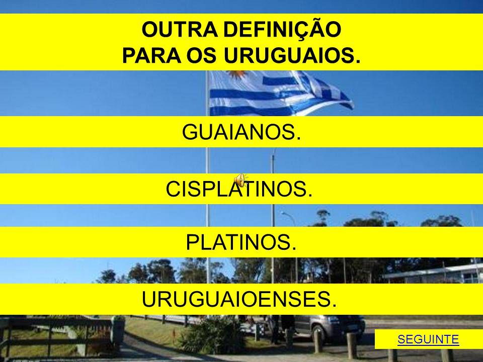 OUTRA DEFINIÇÃO PARA OS URUGUAIOS.