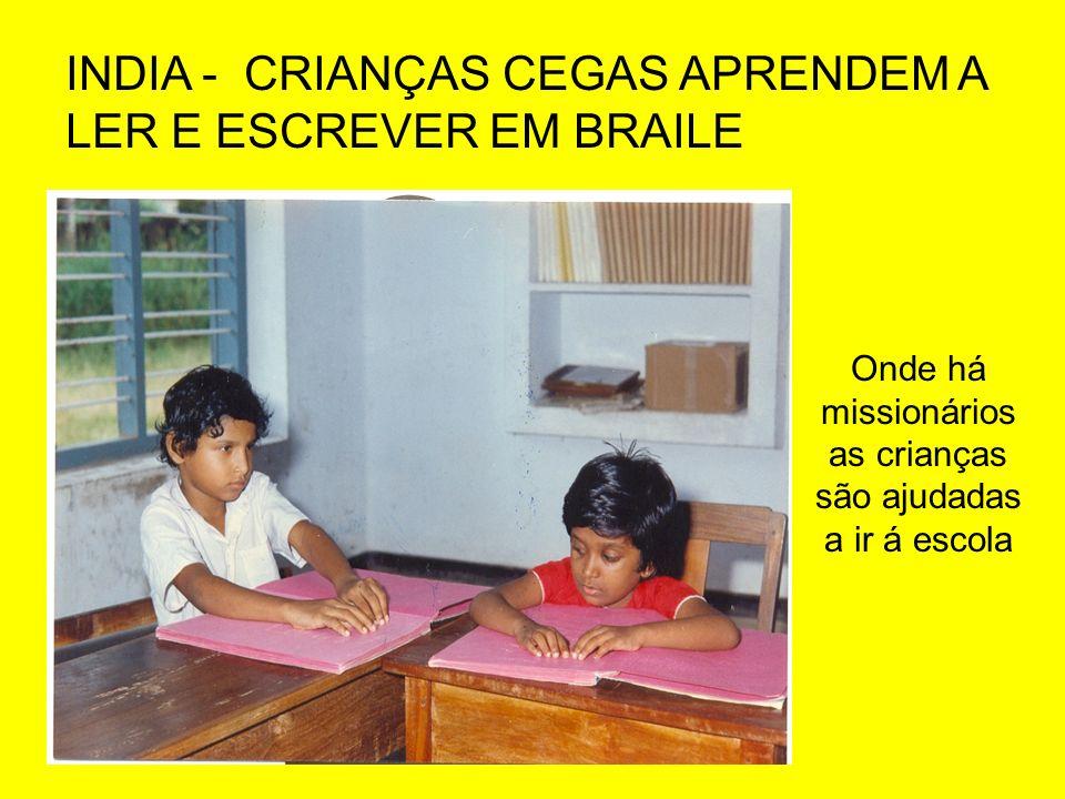 Onde há missionários as crianças são ajudadas a ir á escola
