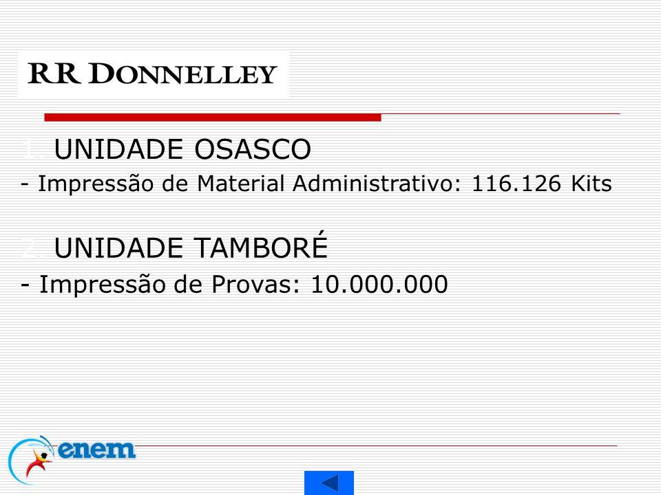 UNIDADE OSASCO UNIDADE TAMBORÉ - Impressão de Provas: 10.000.000