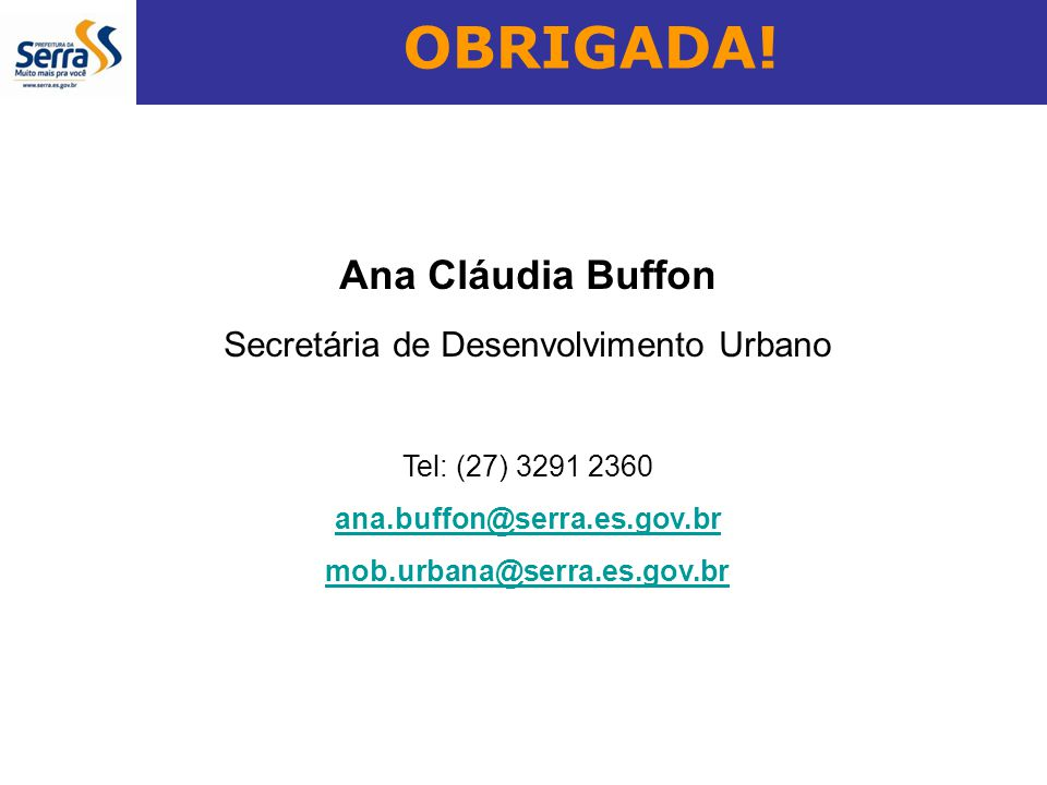 Secretária de Desenvolvimento Urbano