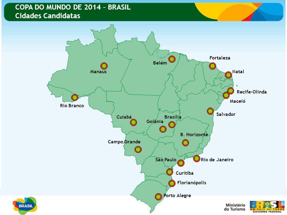 COPA DO MUNDO DE 2014 – BRASIL Cidades Candidatas